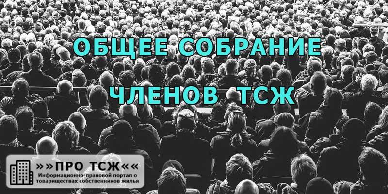 Иллюстрация с изображением множества людей, пришедших на общее собрание ТСЖ